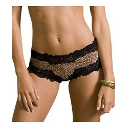 Lunaire 15232 Barbados Mesh with Lace Trim Boy Shorts
